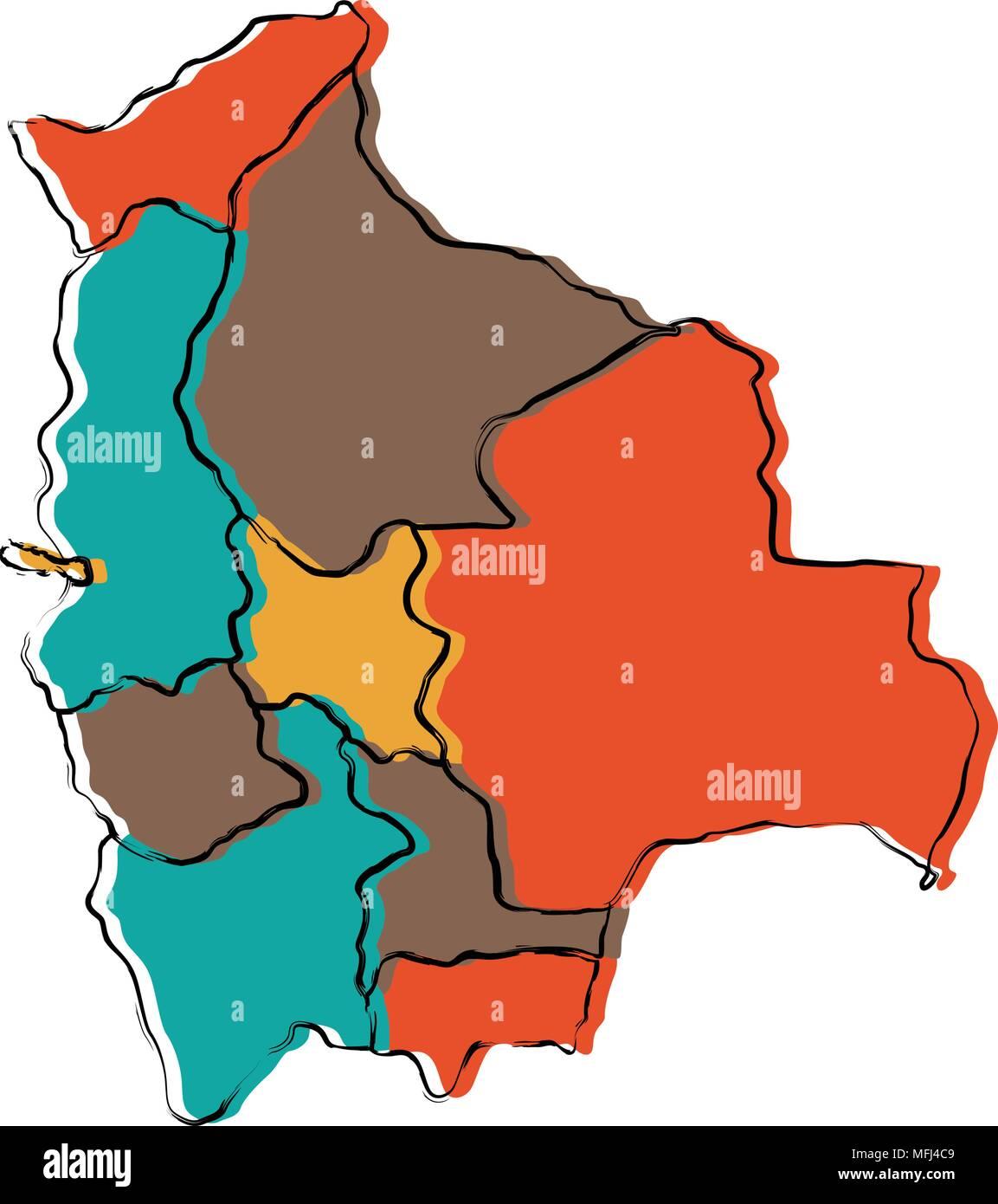 Political Map Of Bolivia Stock Vector Art Illustration Vector