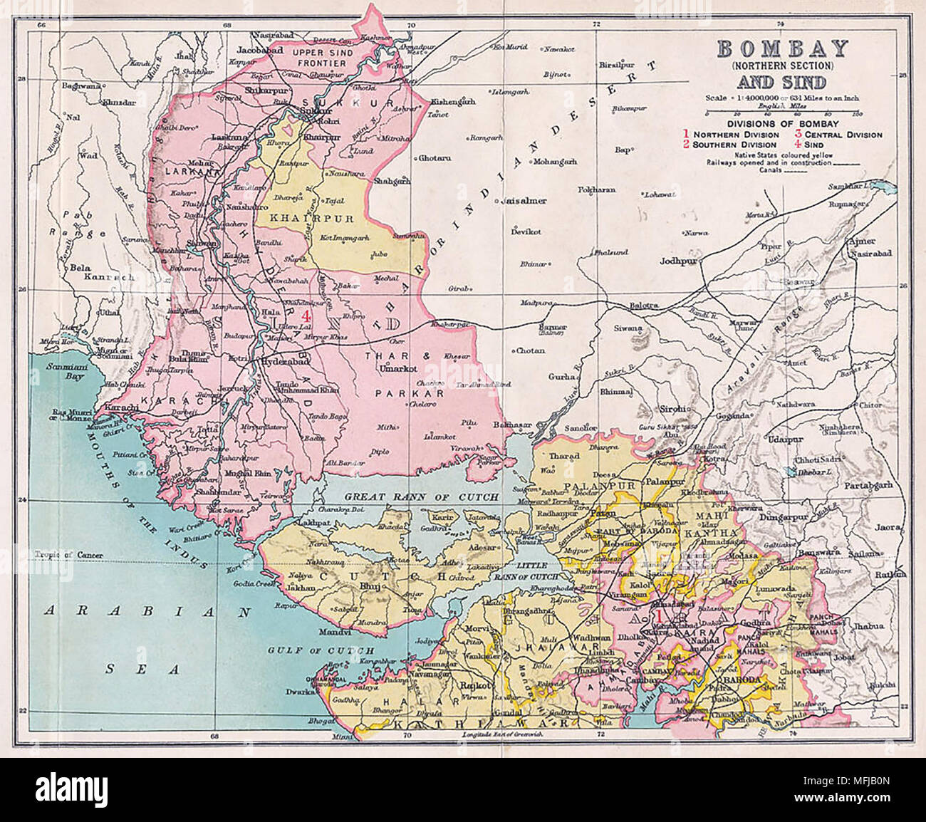 Bombay Map Stock Photos Bombay Map Stock Images Alamy