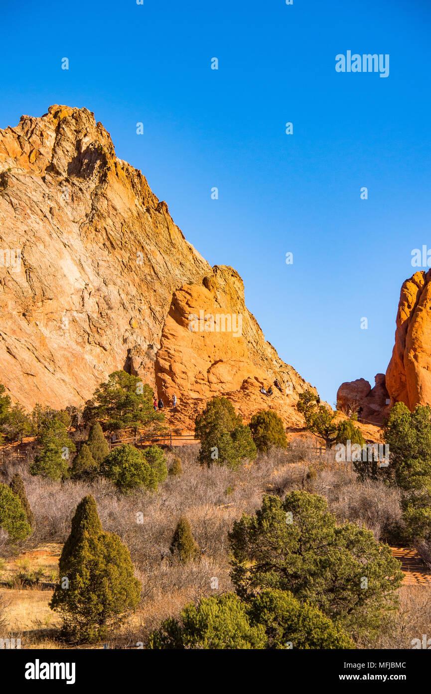 Garden of the Gods in Colorado Springs, Colorado, USA - Stock Image