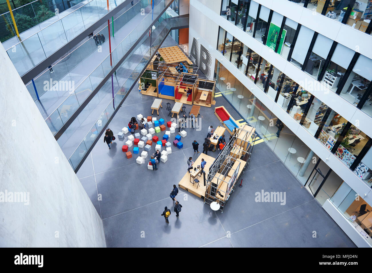 Adidas headquarters in Herzogenaurach Stock Photo: 181728981