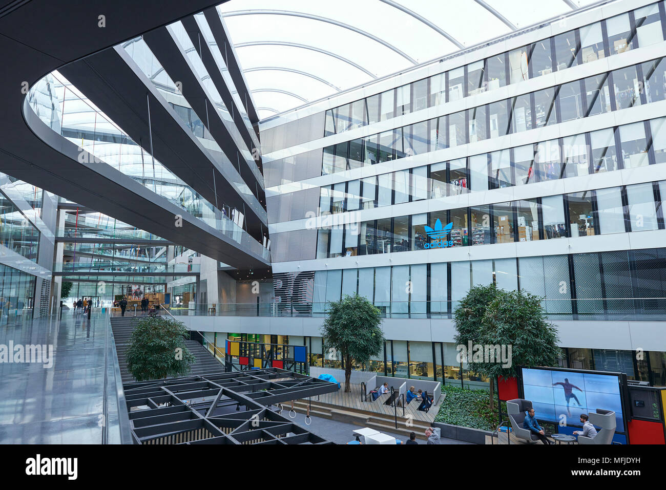 Adidas headquarters in Herzogenaurach Stock Photo: 181729621