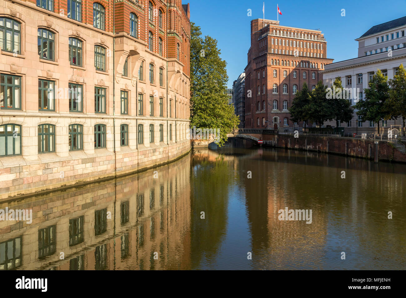 The Laeiszhof and the Patriotische Gesellschaft Kontorhaeuser in Hamburg, Germany, Europe - Stock Image