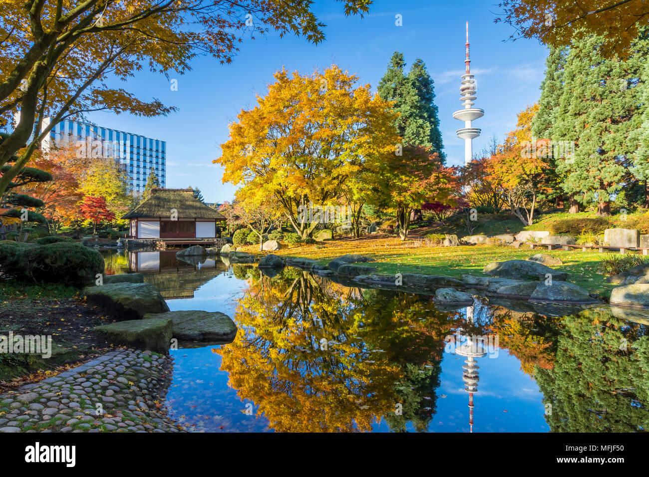 The Japanese Garden At Planten Un Blomen Park In Hamburg Germany