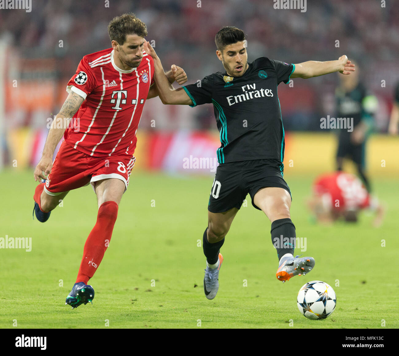 5f8d1a8bd1d Javi Martinez (FCB) in duels with Marco Asensio (Real Madrid) GES Football Champions  League semi-finals  FC Bayern Munich - Real Madrid