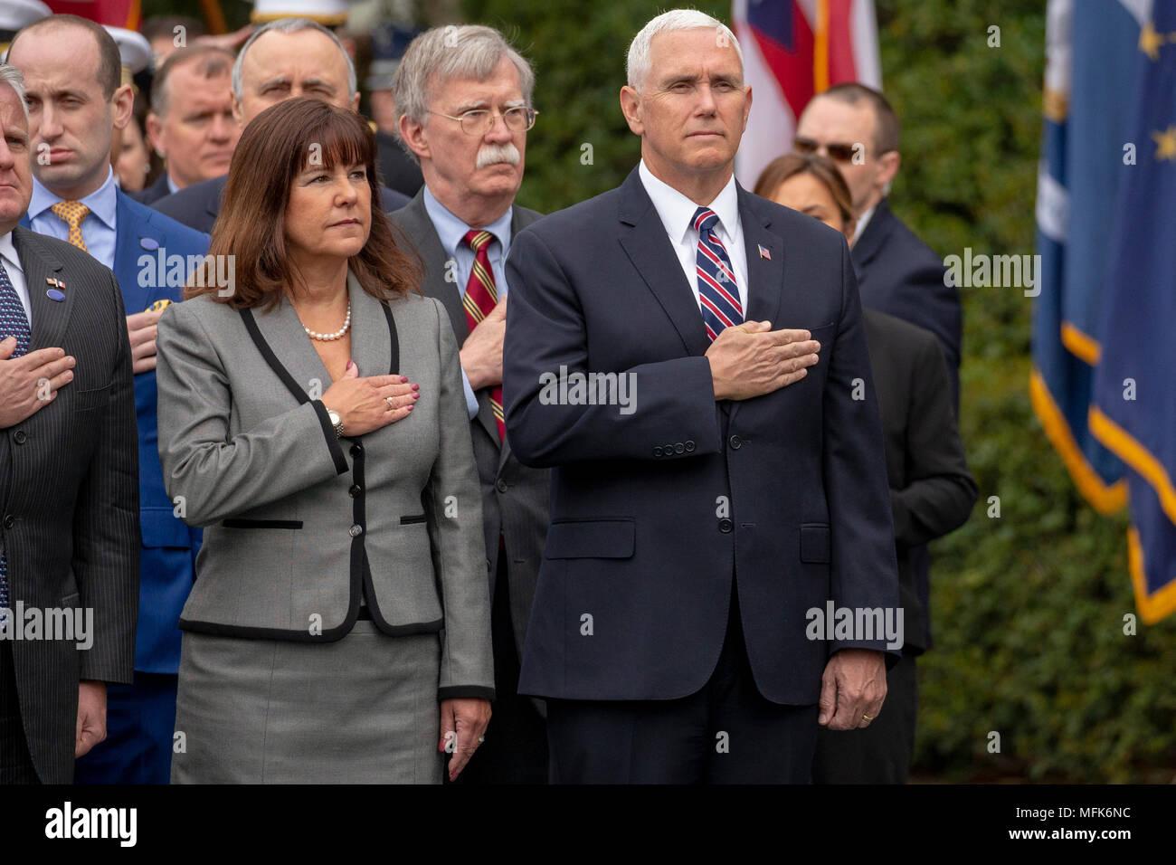 Washington, DC. 24th Apr, 2018. United States Vice President Mike ...