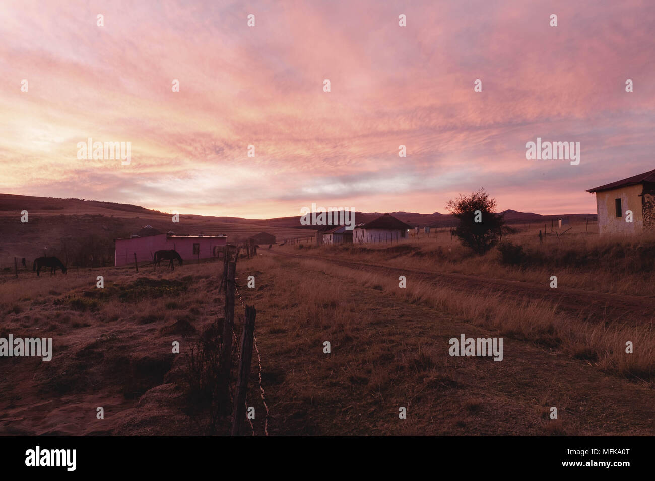 Xhosa Initiation Stock Photos Images Page Wiring A House In South Africa Matatiele Eastern Cape 11th June 2016 Sunset