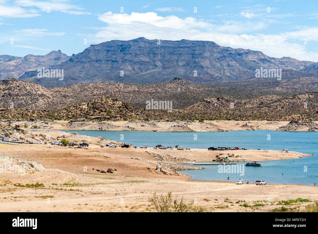 Local secret in the middle of the desert - Stock Image