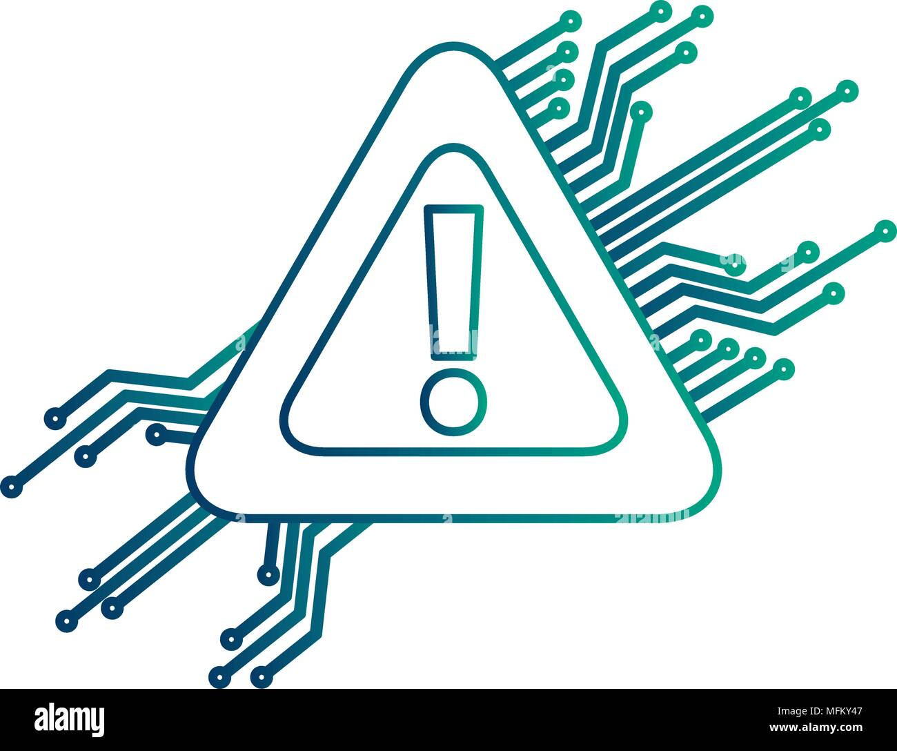 warning alert problem error circuit technology - Stock Image