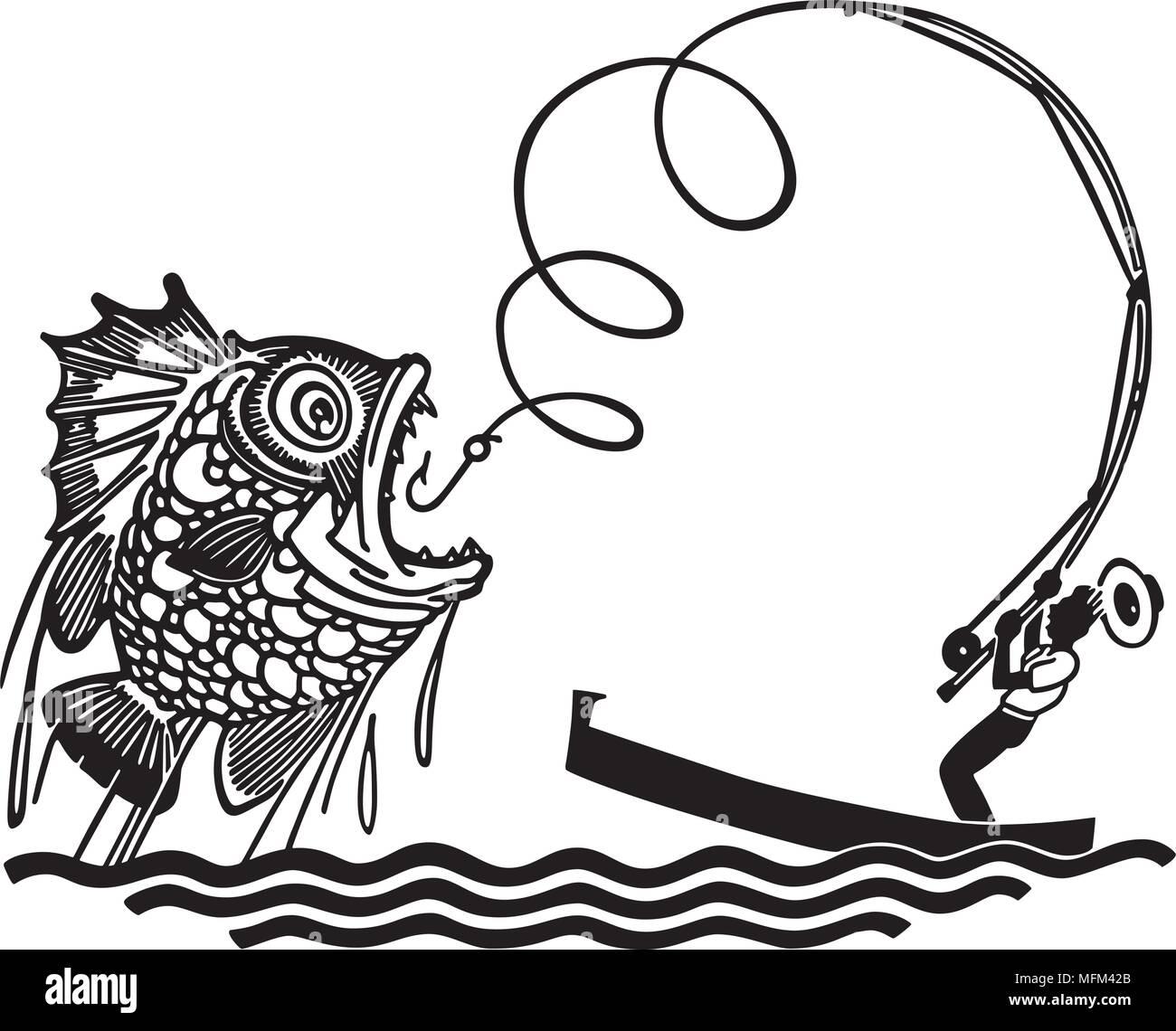 Man catching big fish retro clipart illustration stock vector art man catching big fish retro clipart illustration thecheapjerseys Choice Image