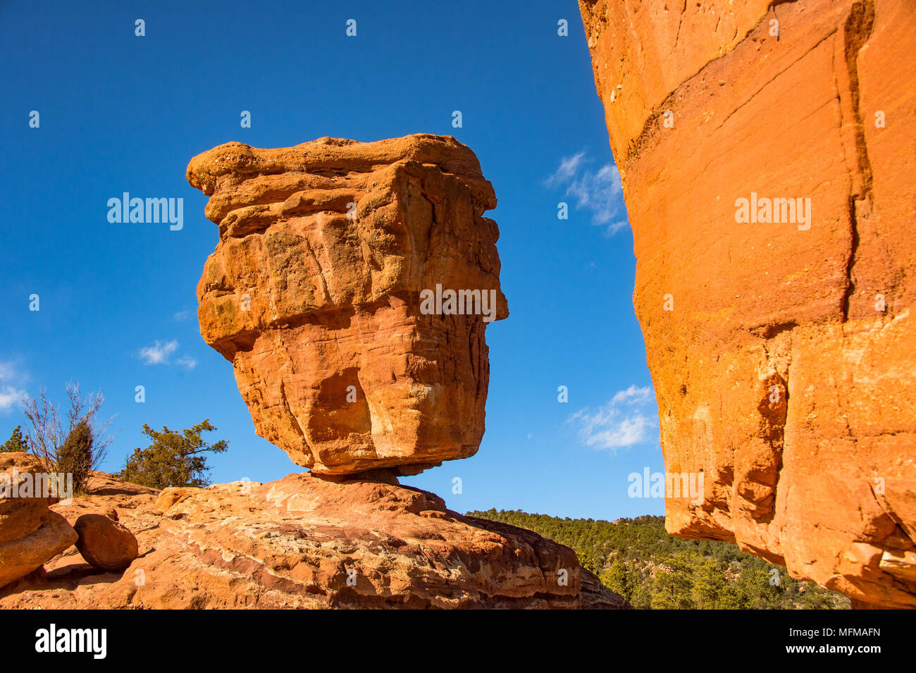 Balanced Rock At The Garden Of The Gods In Colorado Springs