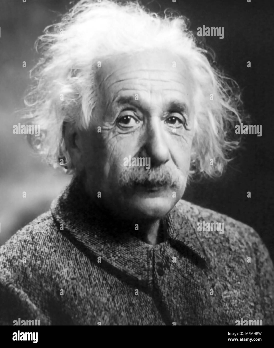 ALBERT EINSTEIN (1879-1955) German-American theoretical physicist in 1947 - Stock Image
