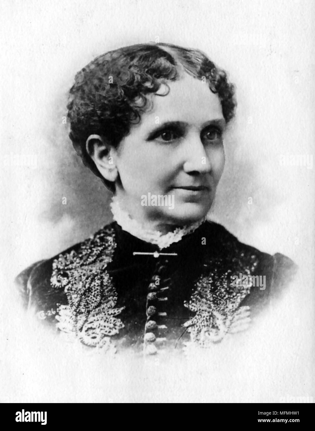 MARY BAKER EDDY (1821-1910) American founder of the Church of Christ,Scientist - Stock Image