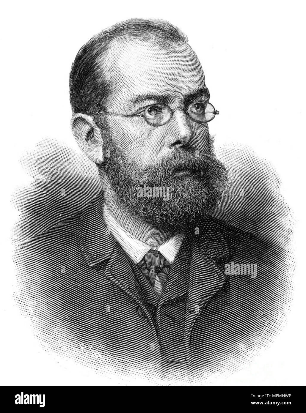 ROBERT KOCH (1843-1910) German physician and microbiologist - Stock Image