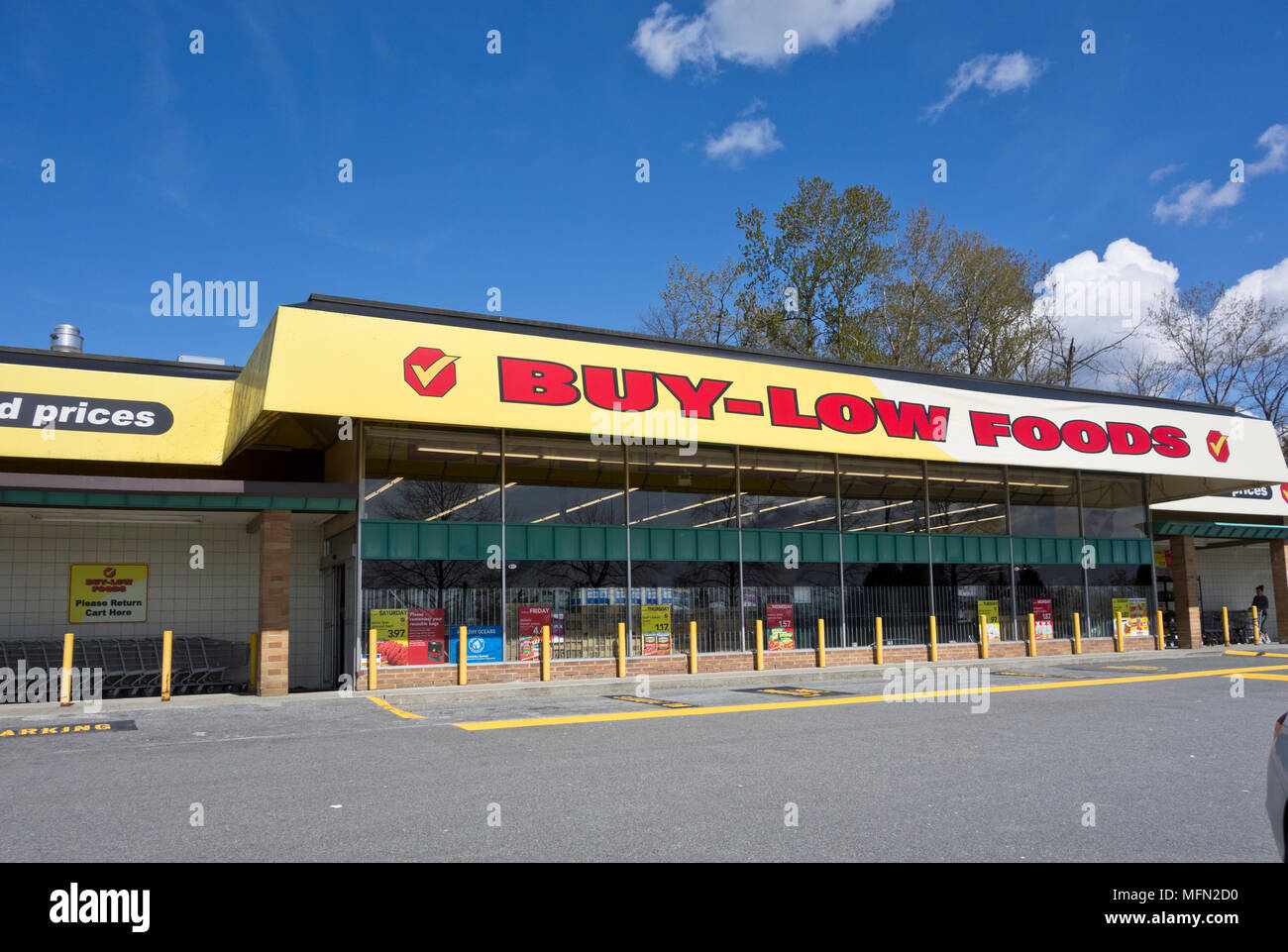 Buy-Low Foods grocery store in Metro Vancouver, BC, Canada - Stock Image