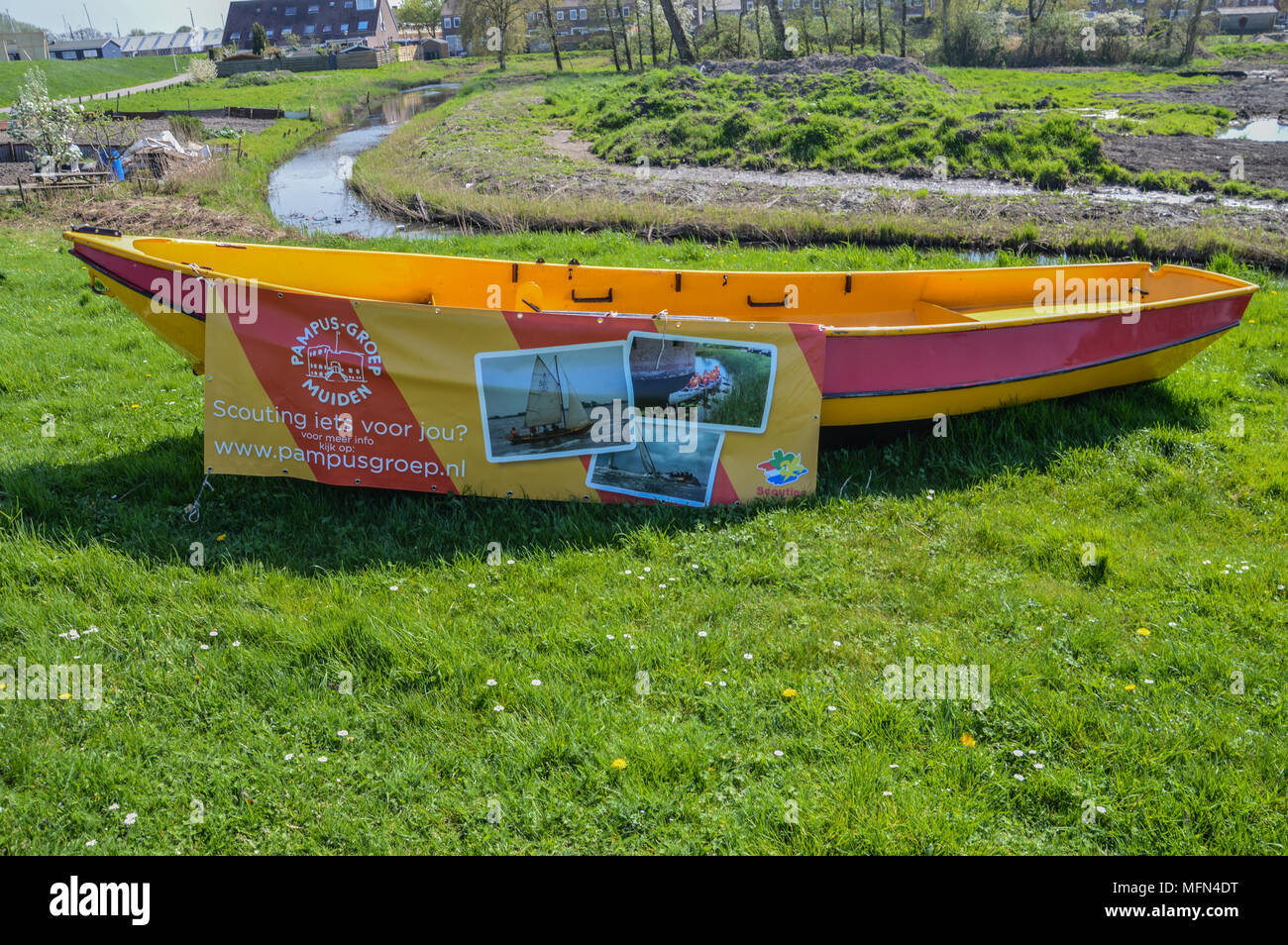 Scouting Boat At Muiden The Netherlands 2018 - Stock Image