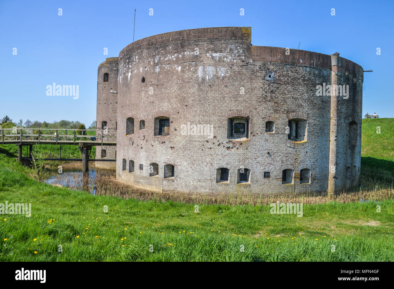 Scouting Building At Muiden The Netherlands - Stock Image