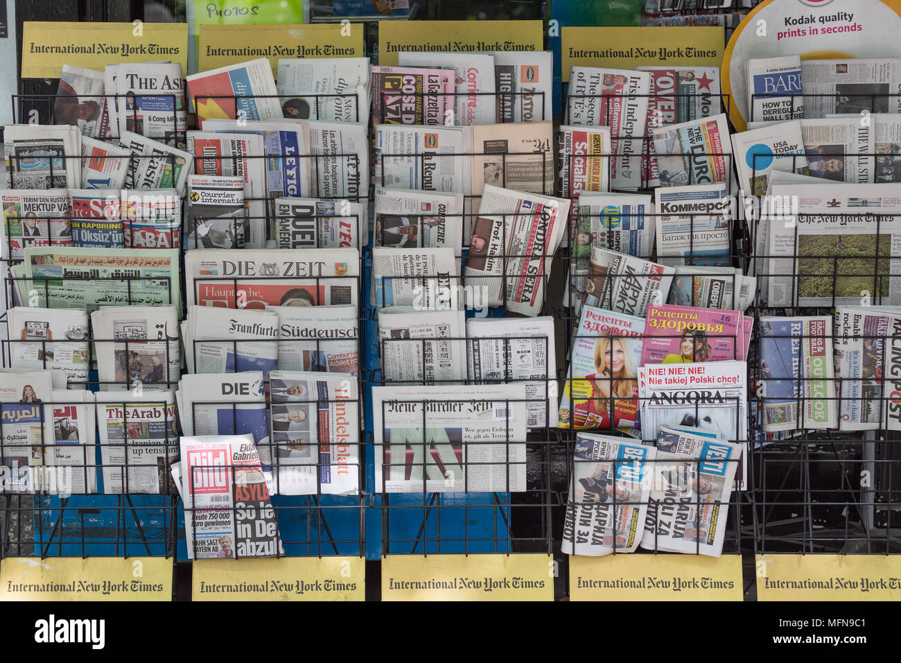 Newspapers in Kensington - Stock Image