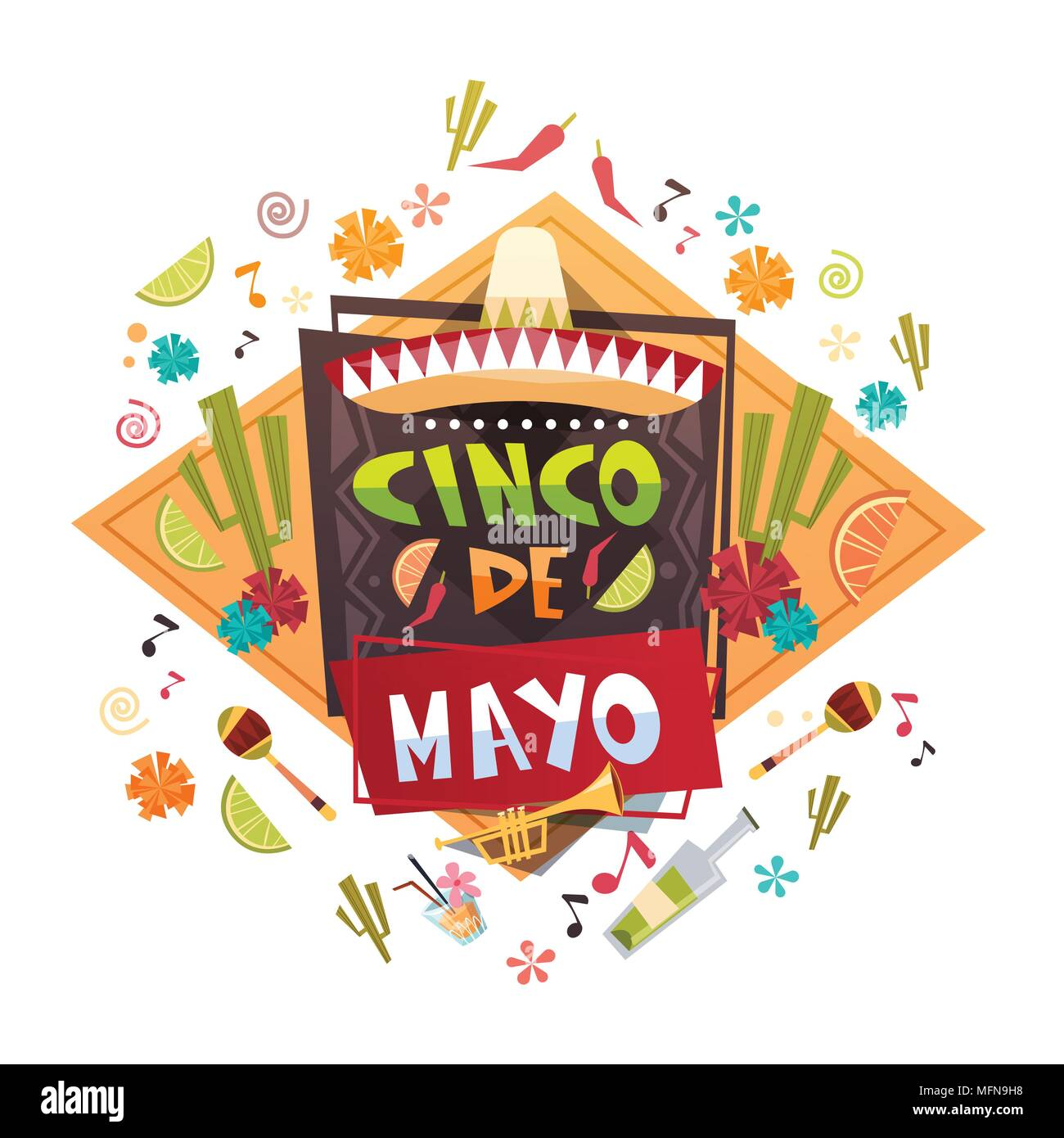 Cinco de mayo mexican holiday greeting card decoration poster design cinco de mayo mexican holiday greeting card decoration poster design m4hsunfo
