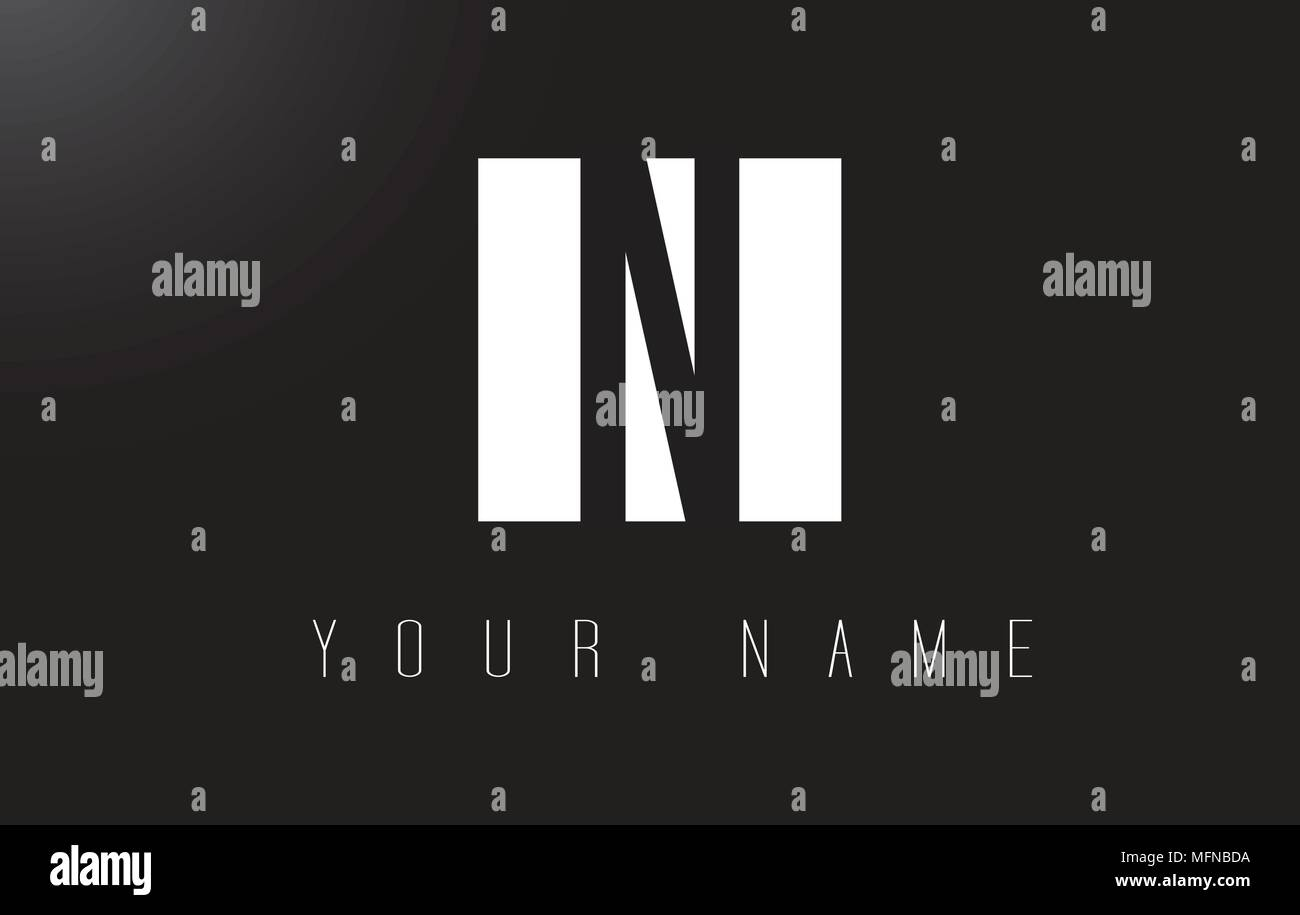 N Letter Logo With Black And White Letters Negative Space Design Stock Vector Image Art Alamy,Interior Design Templates
