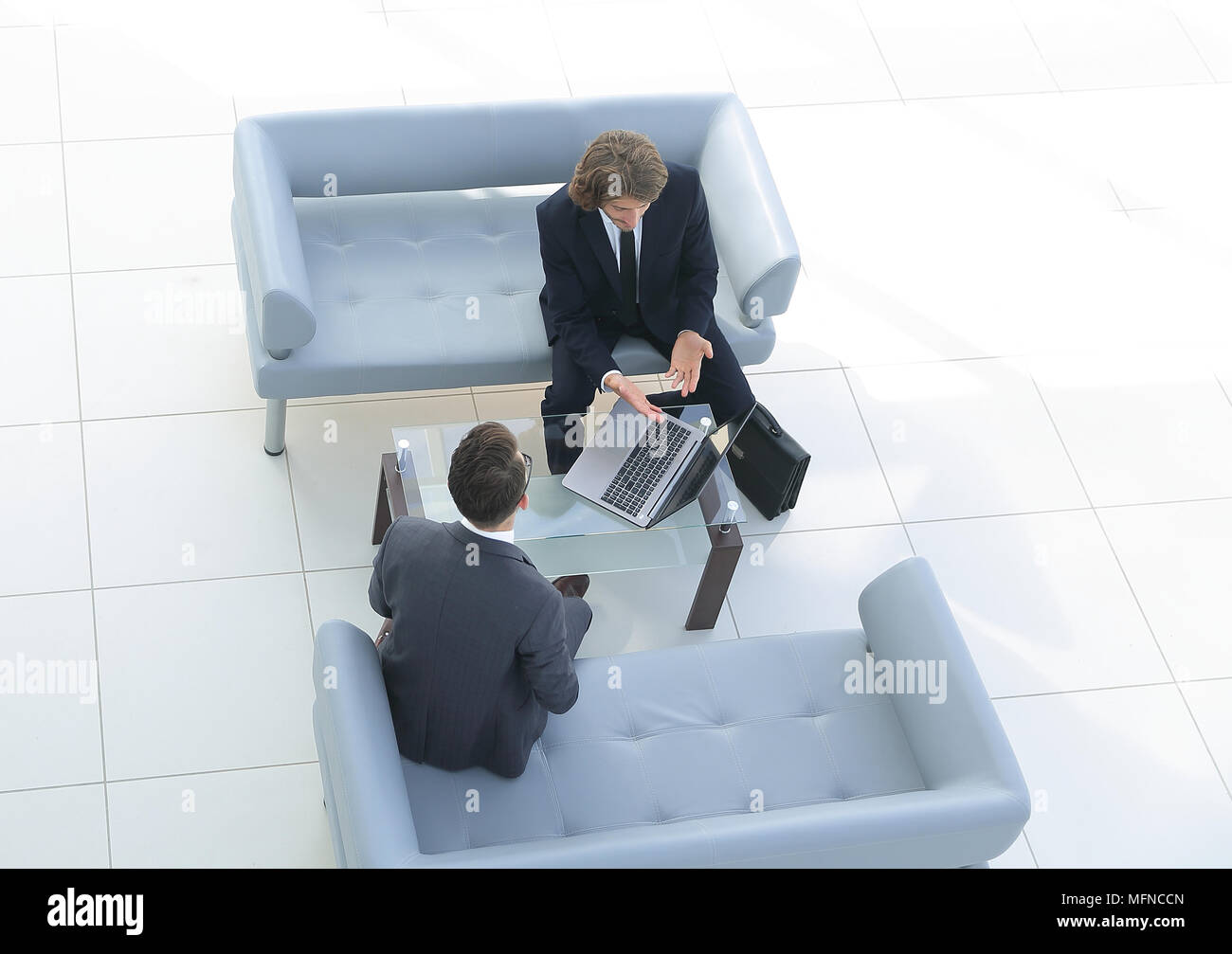 view from the top .meeting business colleagues - Stock Image