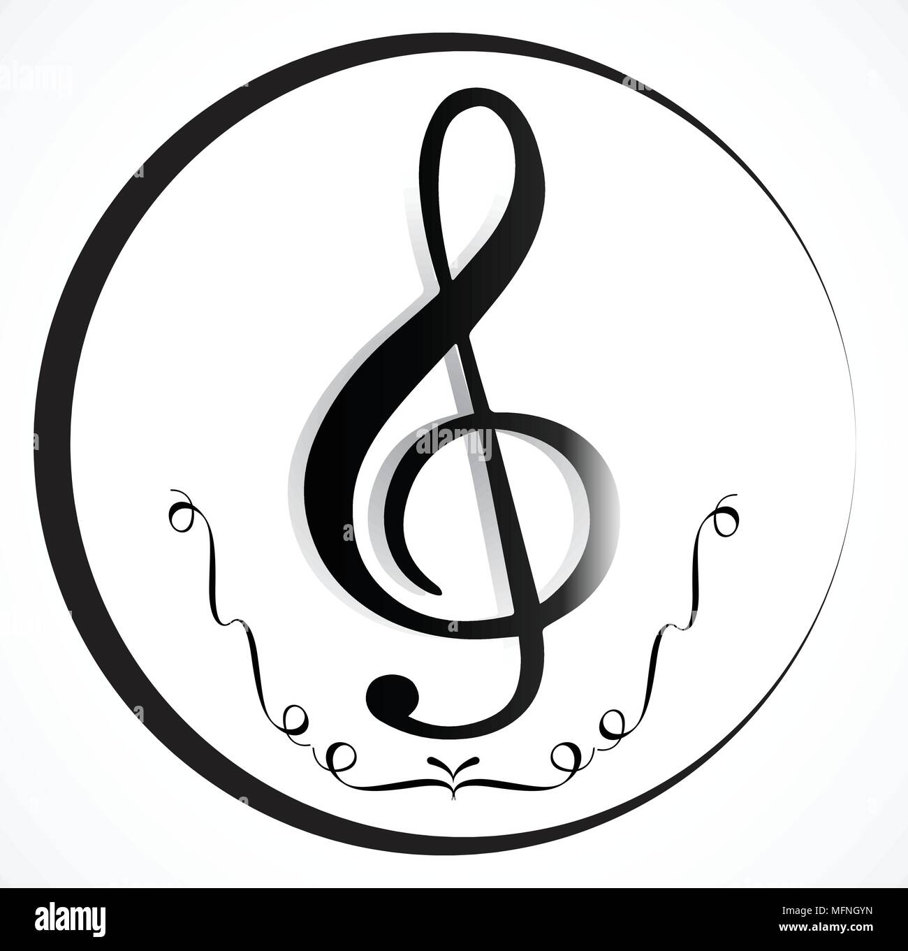 Music Note Background With Music Symbol Icon Collection Stock Vector
