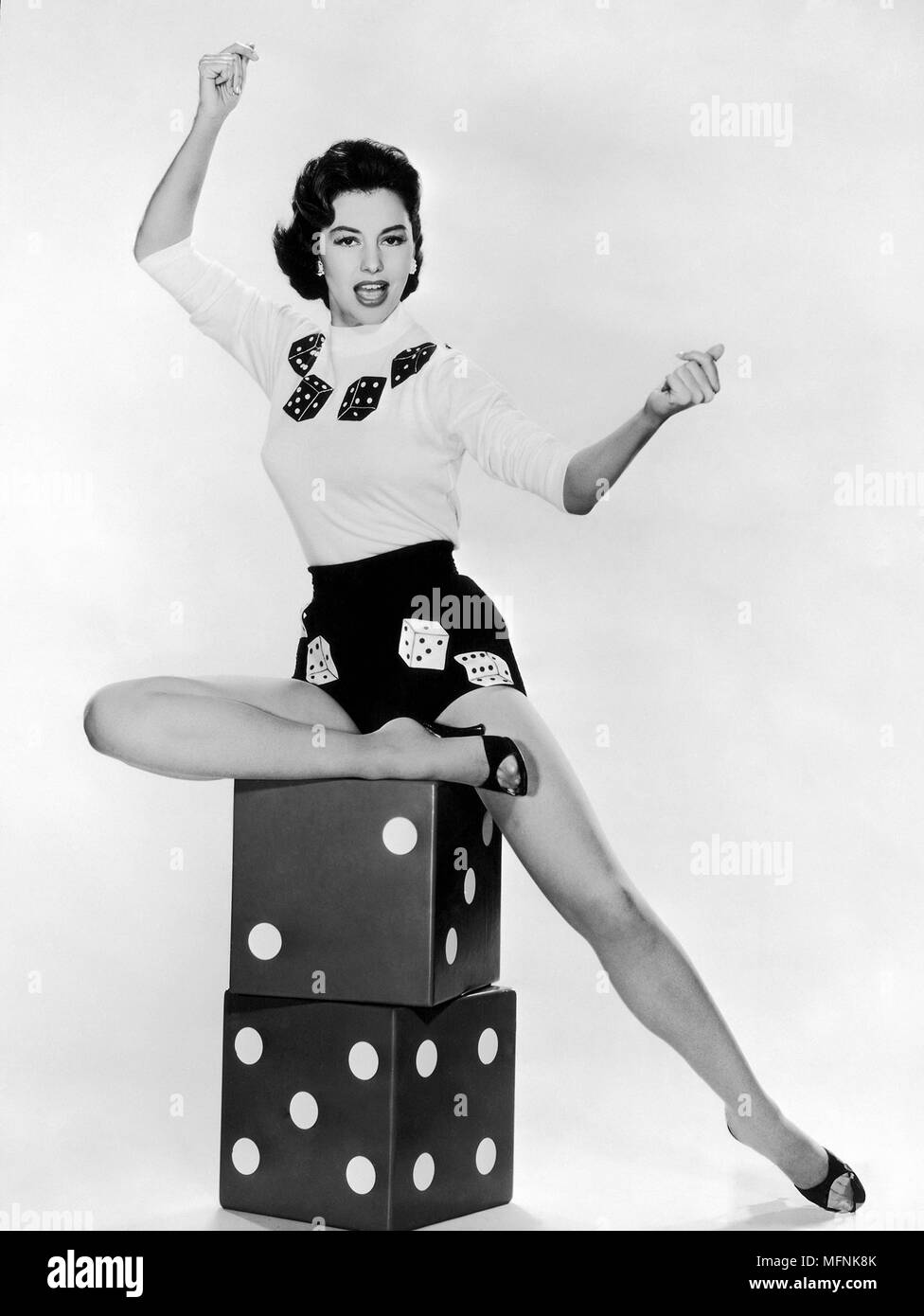 Cyd Charisse  american actress and dancer Circa 1956 - Stock Image