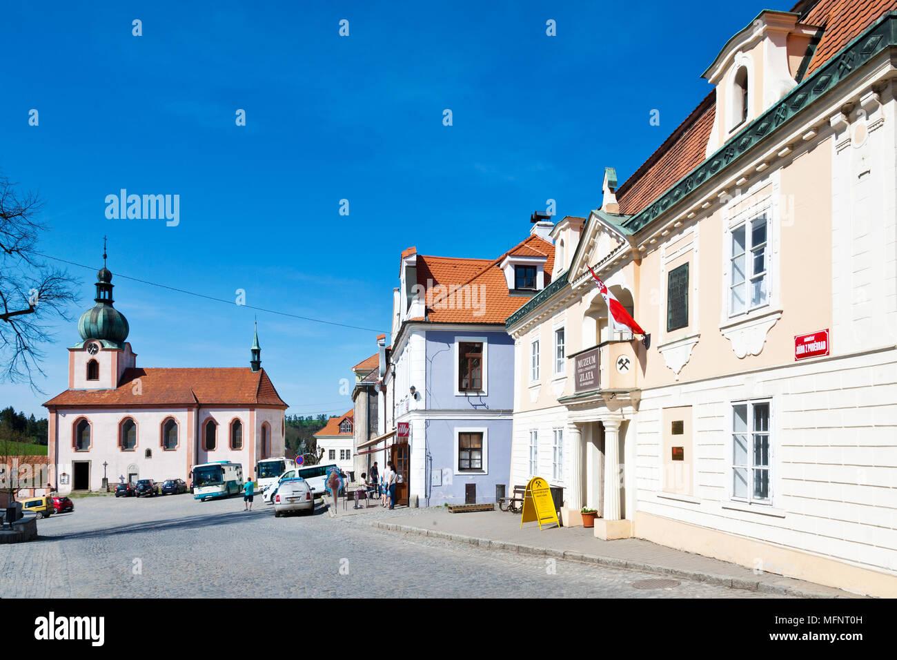 Muzeum zlata, Nový Knín, Středočeský kraj, Česká republika / Museum of gold, Novy Knin, Central Bohemian region, Czech republic Stock Photo