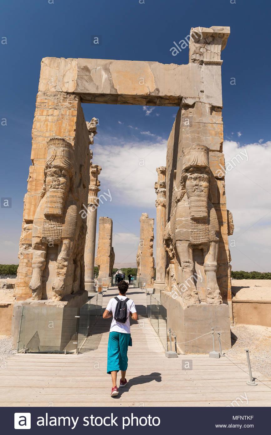 Ancient Achaemenid Empire History Persepolis Iran Throne Of Jamshid Stock Photo Alamy