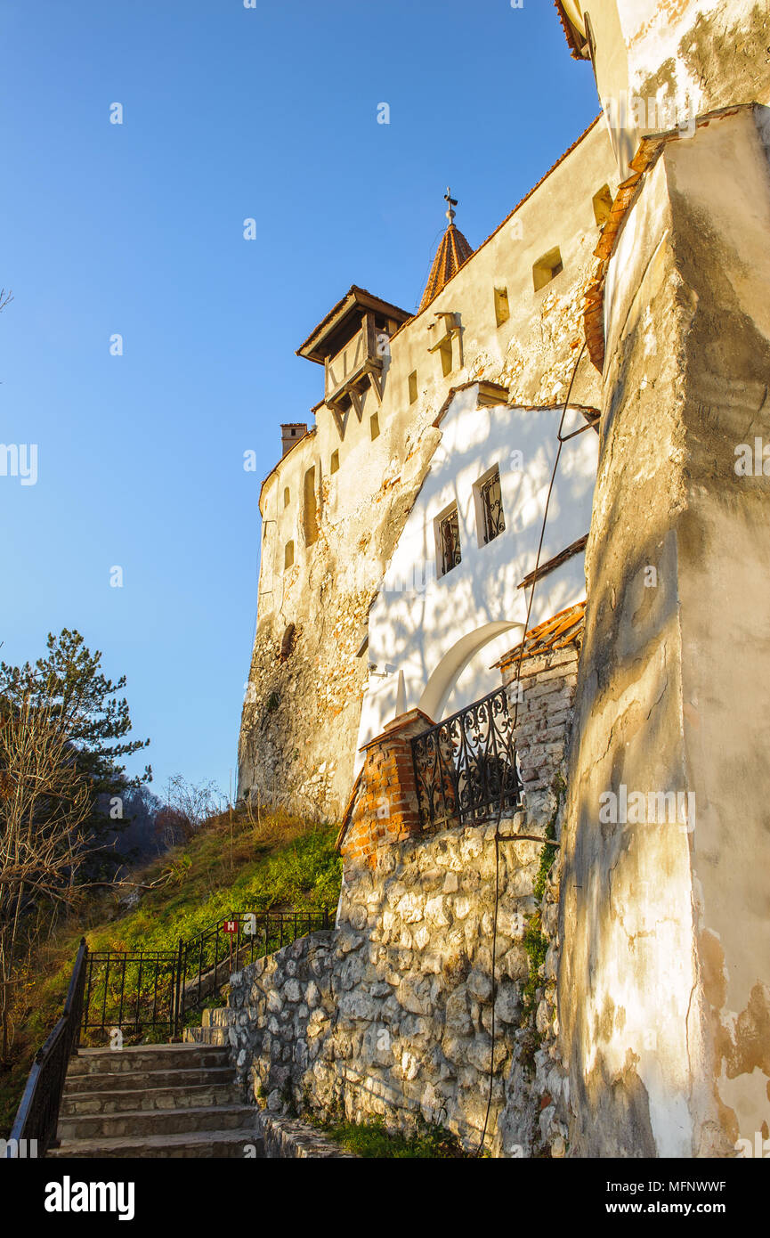 Part of the Dracula Castle in Bran, Romania - Stock Image