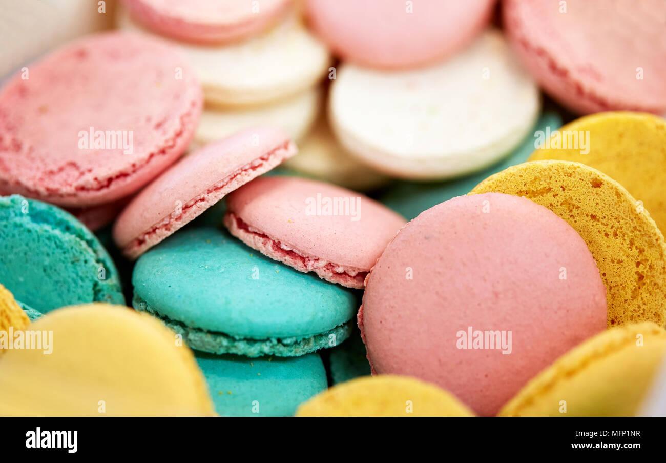 close up of macarons - Stock Image