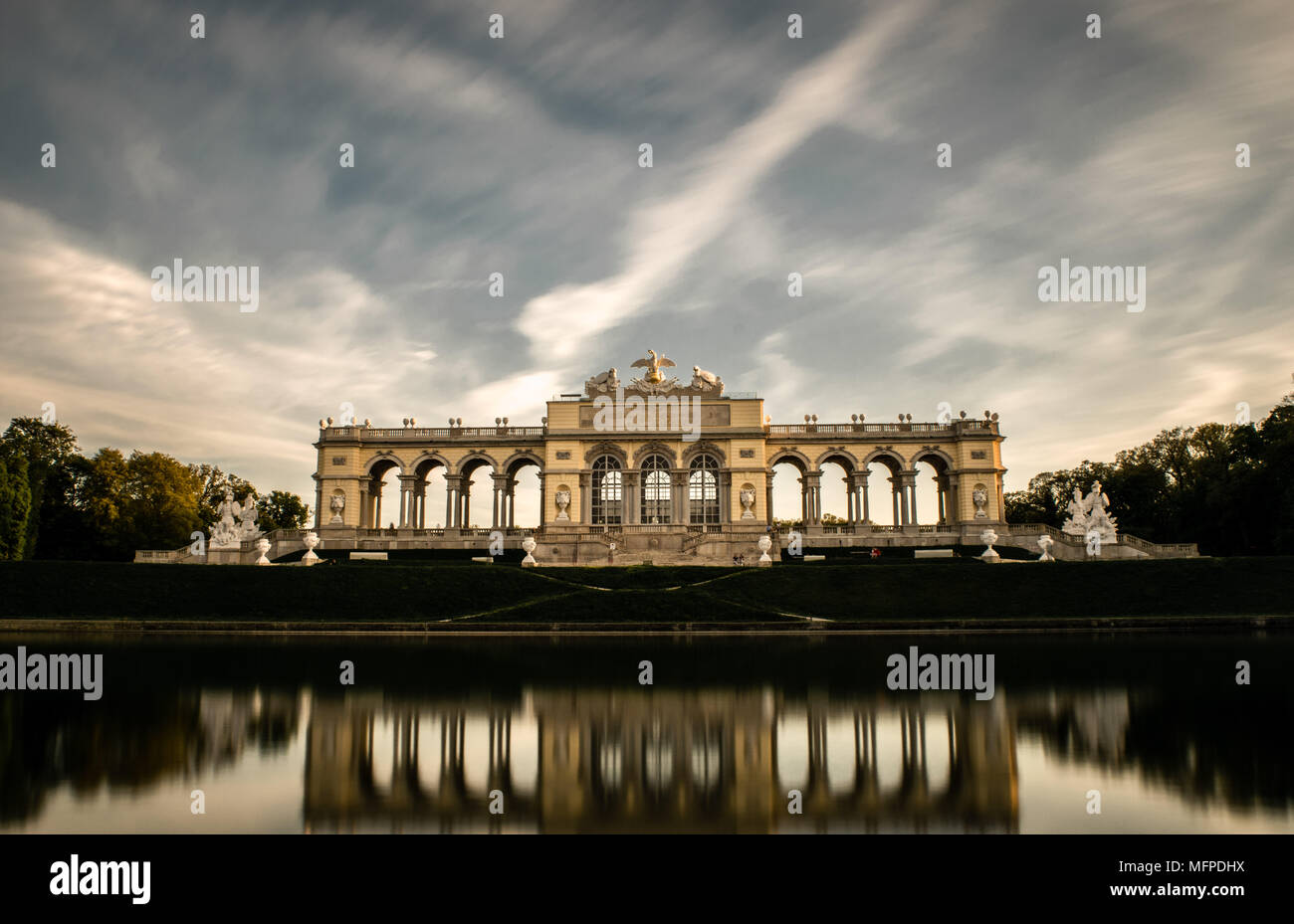 Gloriette Schonbrunn Stock Photo