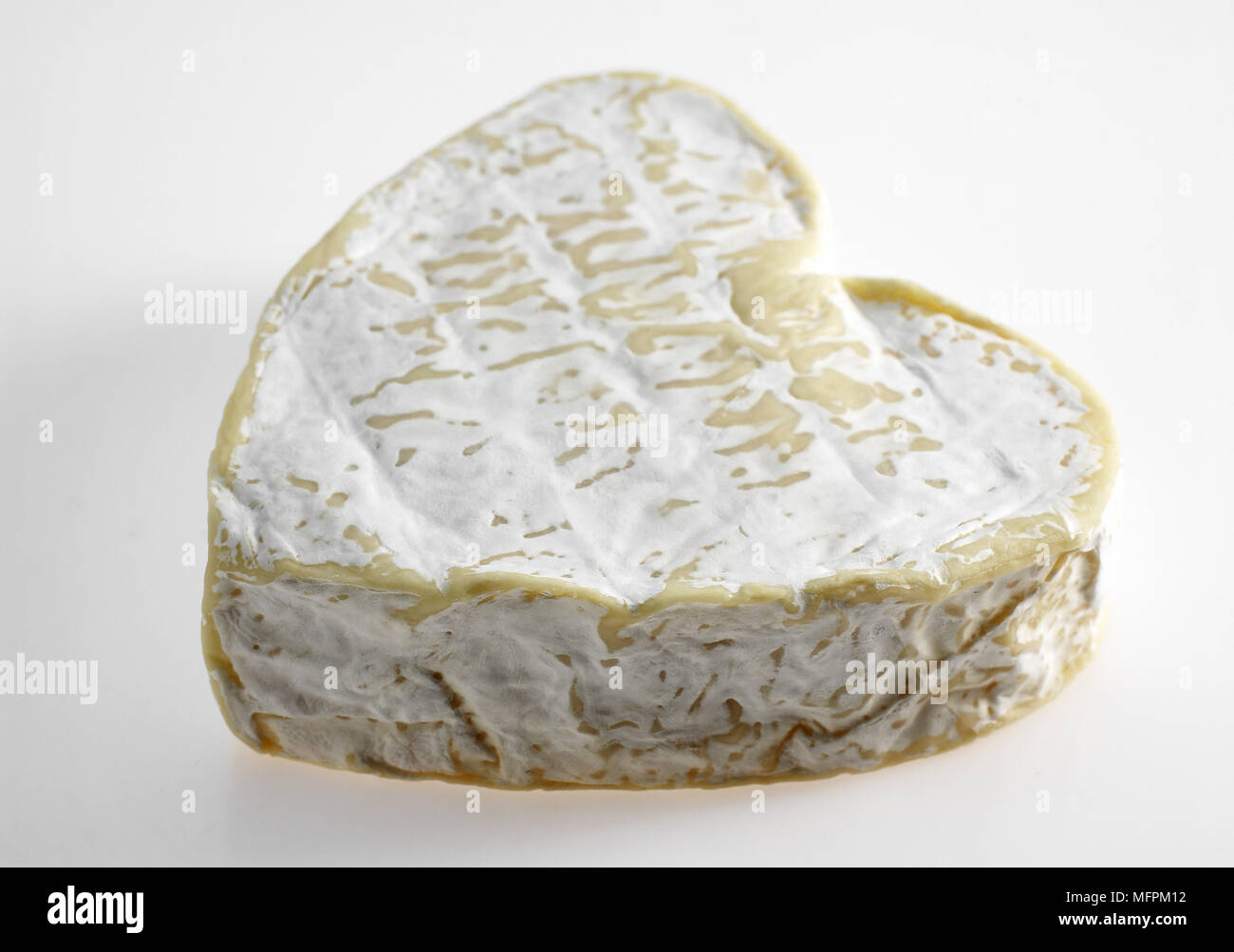 Neufchatel, French Cheese produced in Normandy from Cow's Milk - Stock Image