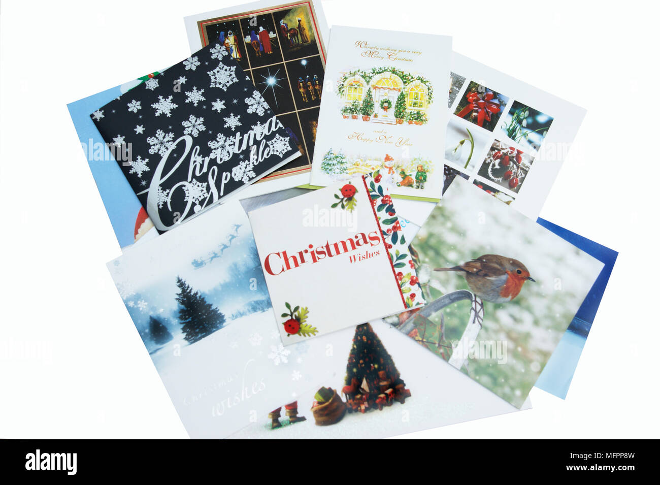 A Display Of Christmas Cards Stock Photos & A Display Of Christmas ...