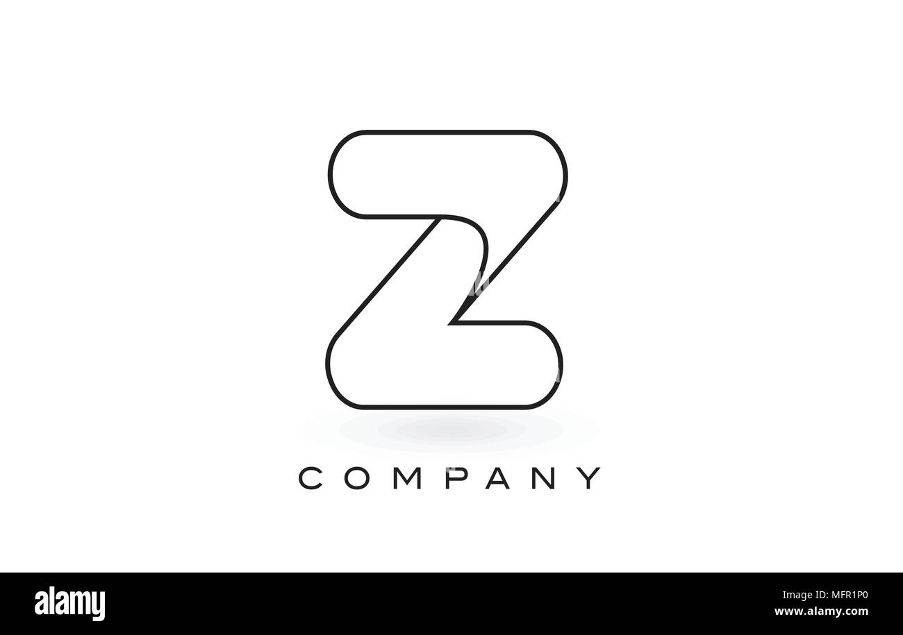 Letter z logo black and white stock photos images alamy z monogram letter logo with thin black monogram outline contour modern trendy letter design vector spiritdancerdesigns Image collections