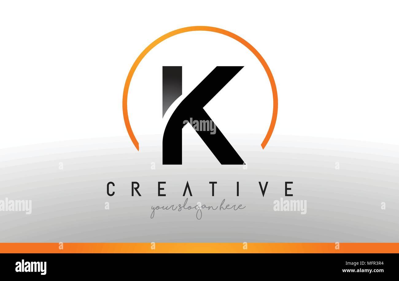Cool Letter I Logo.K Letter Logo Design With Black Orange Color Cool Modern