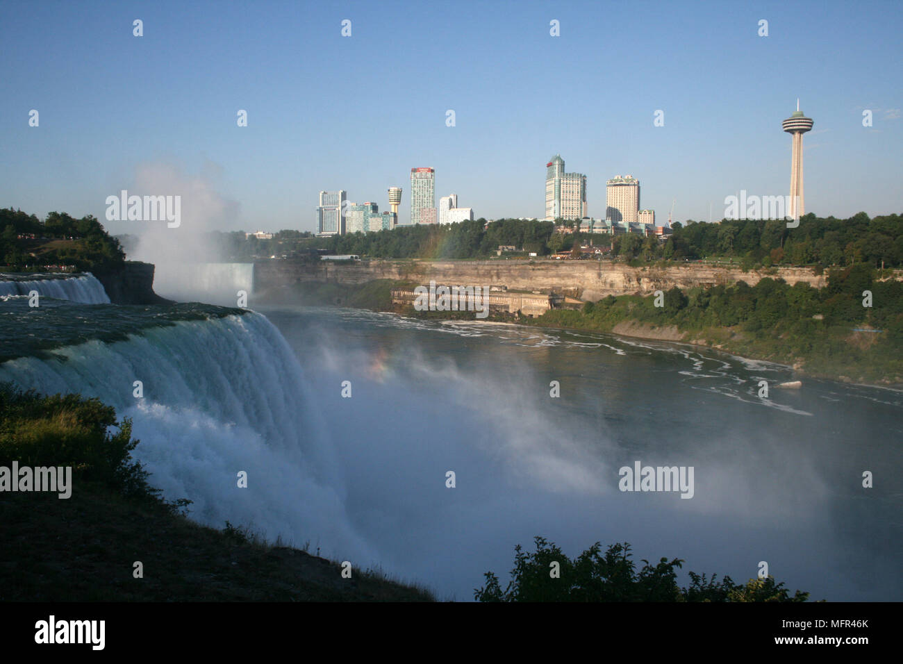 Niagra Falls New York View Of The Falls And The Canadian