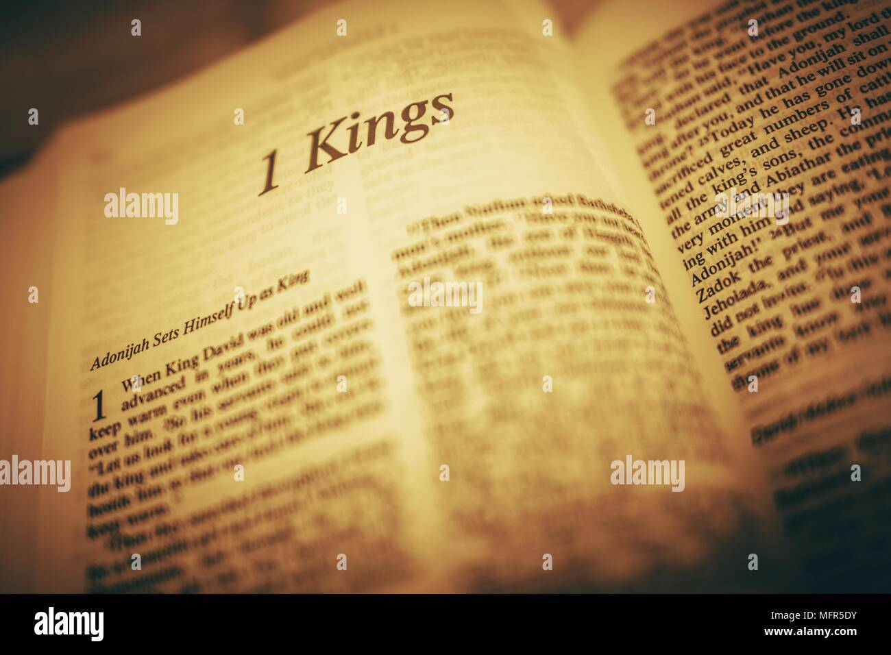 Bible Reading  The Kings  Adonijah Sets Himself Up As a King