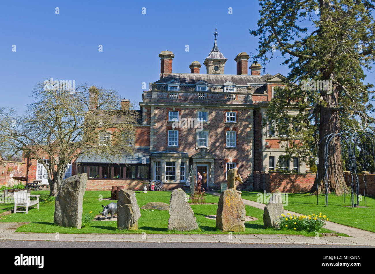 Wallsworth Hall, home to Nature In Art a museum and art gallery dedicated to art inspired by nature; Twigworth, Gloucester, UK - Stock Image