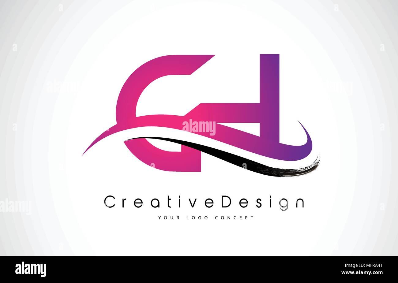 CH C H Letter Logo Design in Black Colors. Creative Modern Letters ...