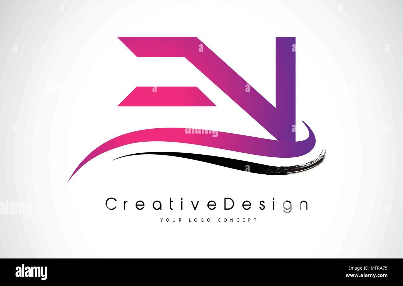 EN E N Letter Logo Design in Black Colors. Creative Modern Letters ...