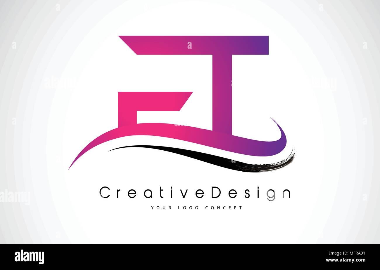 FT F T Letter Logo Design in Black Colors. Creative Modern Letters ...