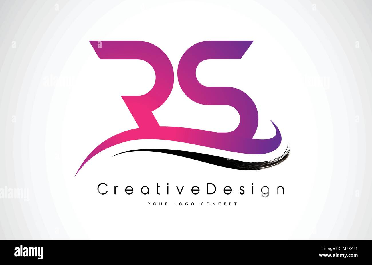 RS R S Letter Logo Design in Black Colors. Creative Modern Letters ...