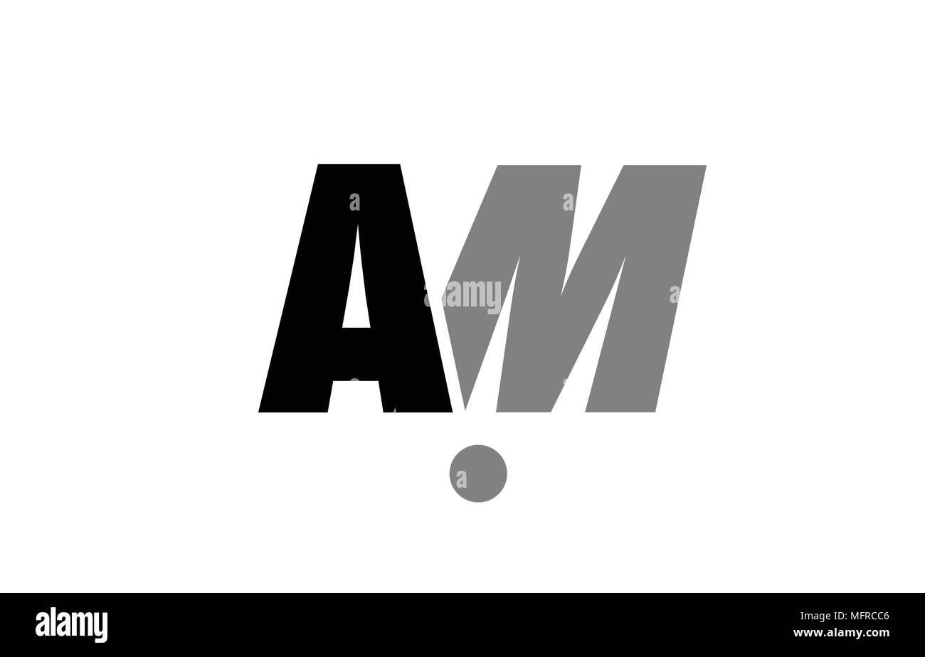 Creative Logo Icon Combination Of Alphabet Letter Am A M In Black