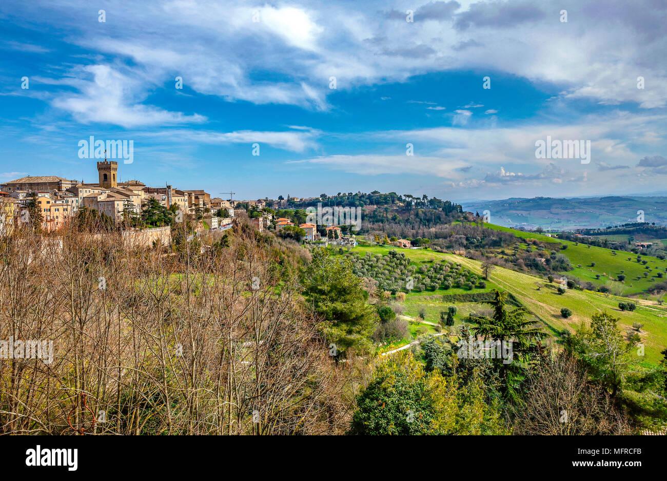 Italy Marche Recanati:  Colle dell'infinito - Stock Image
