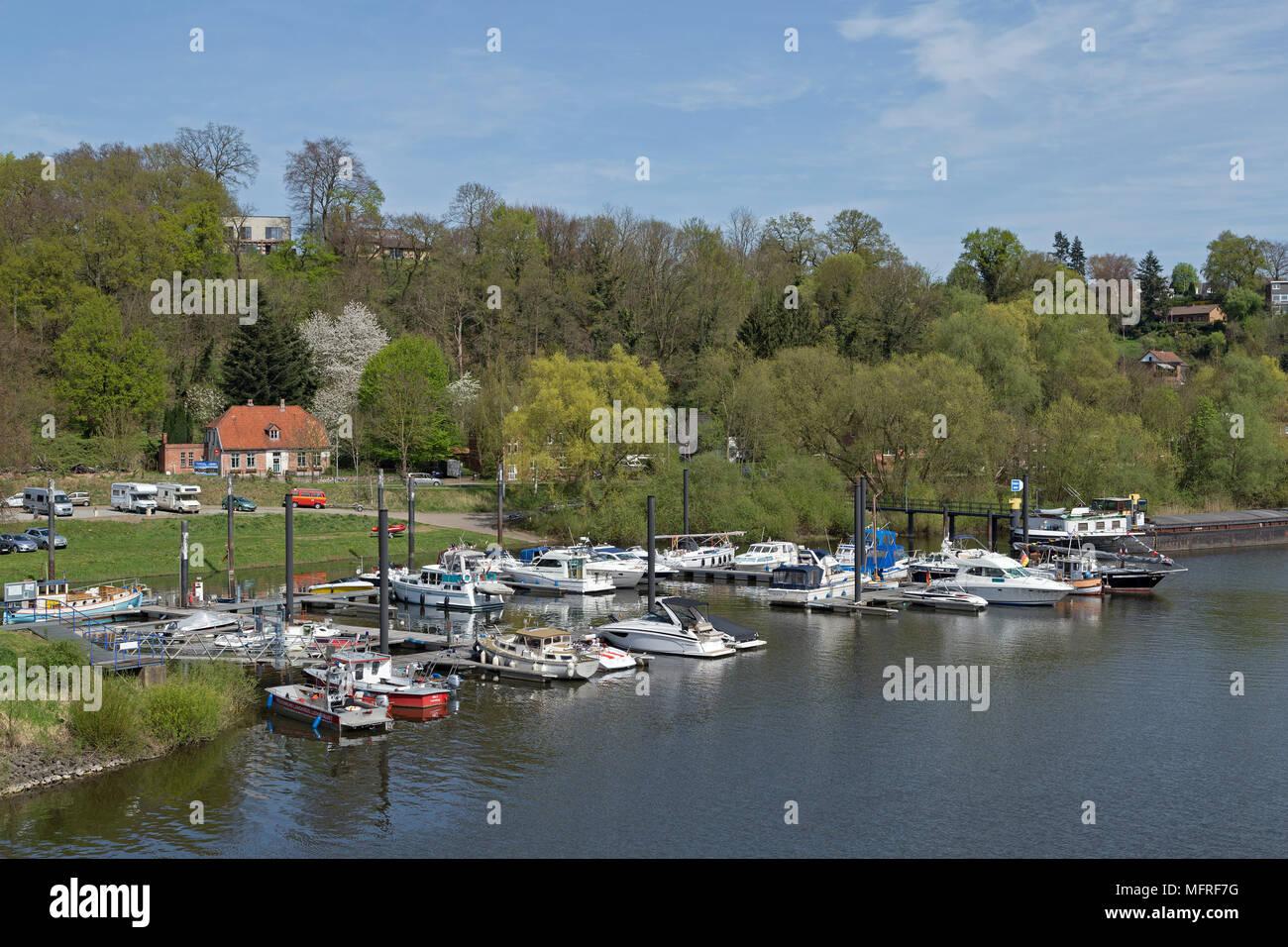 marina, Lauenburg, Schleswig-Holstein, Germany - Stock Image