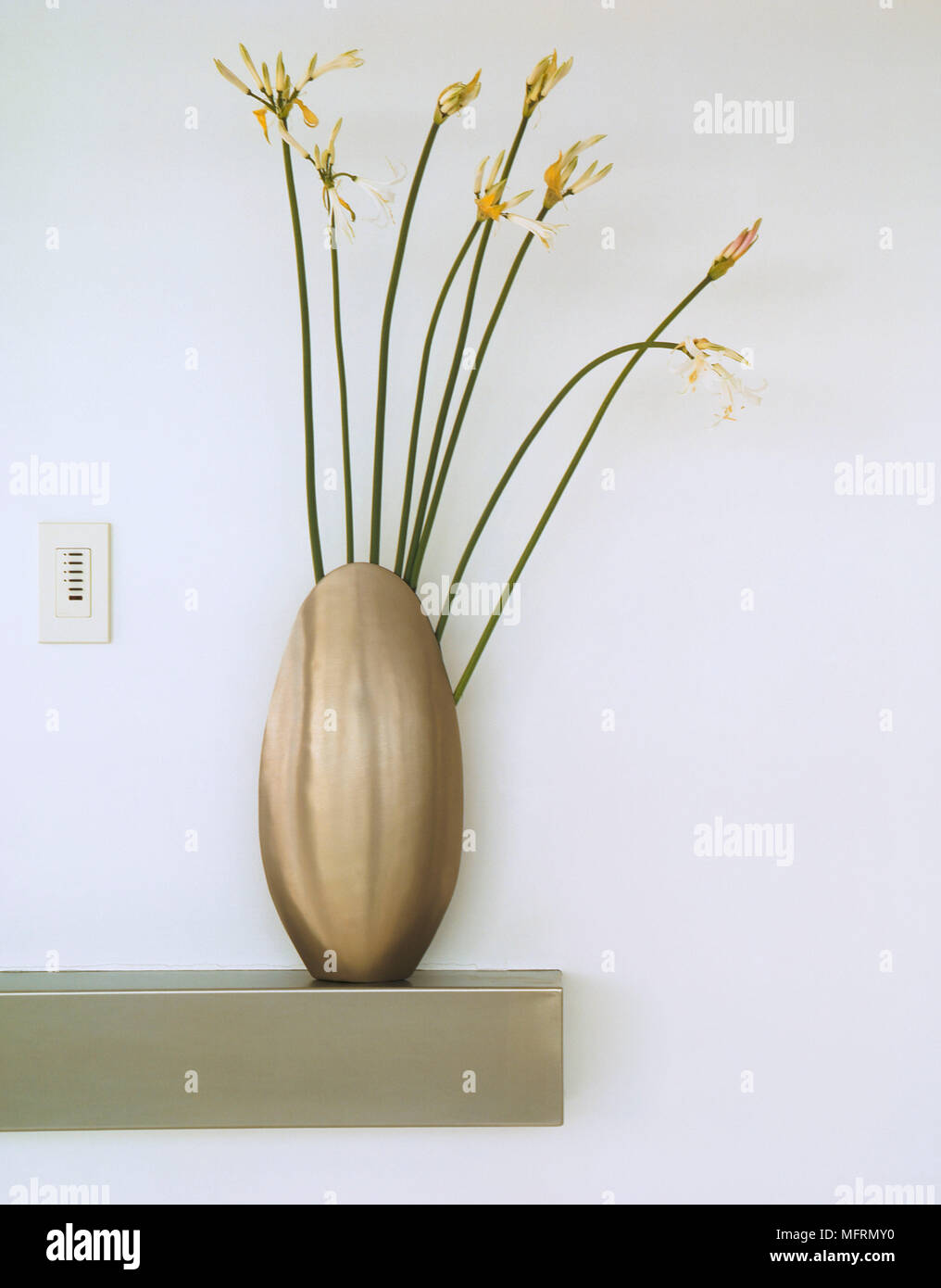 Alamy & A detail of an oval shaped vase with flower arrangement ...