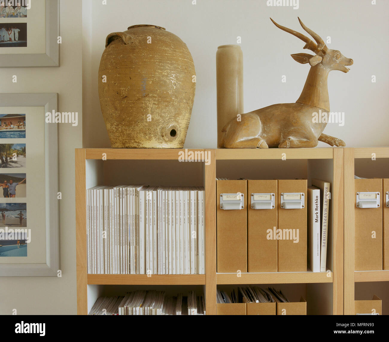 home office shelving units. A Detail Of Home Office Shelving Unit Storing Magazines And Box Files Pottery Vases Animal Figurine Units N