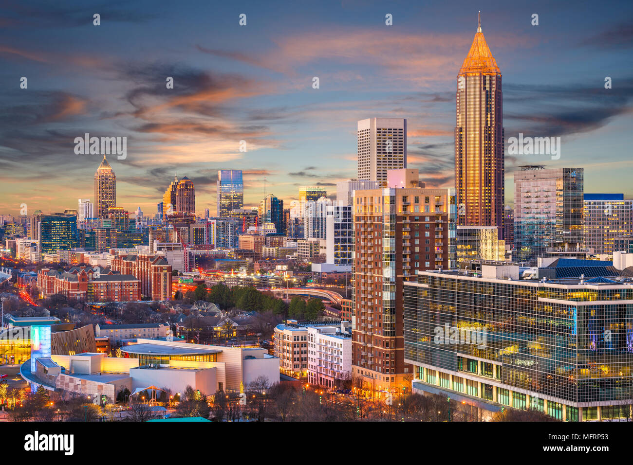 Atlanta, Georgia, USA downtown skyline. - Stock Image