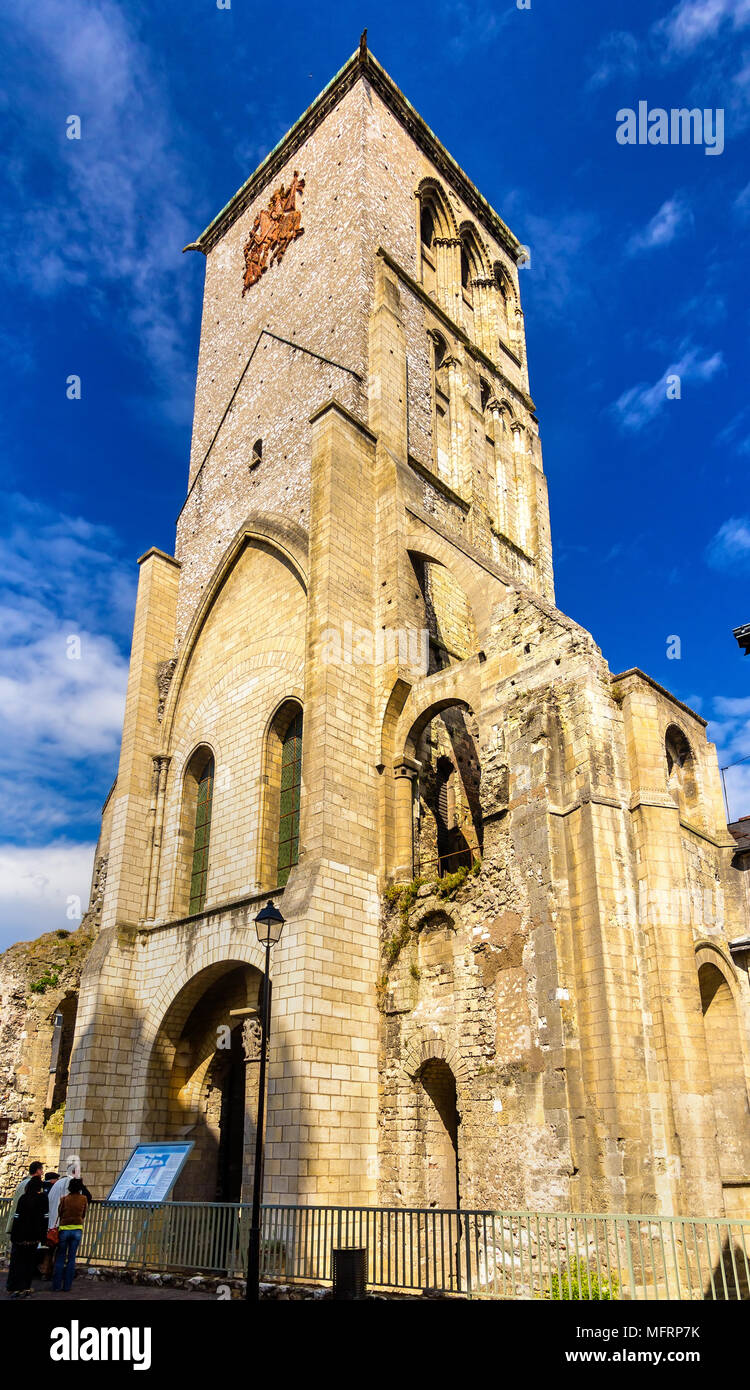 The Charlemagne Tower in Tours - France - Stock Image