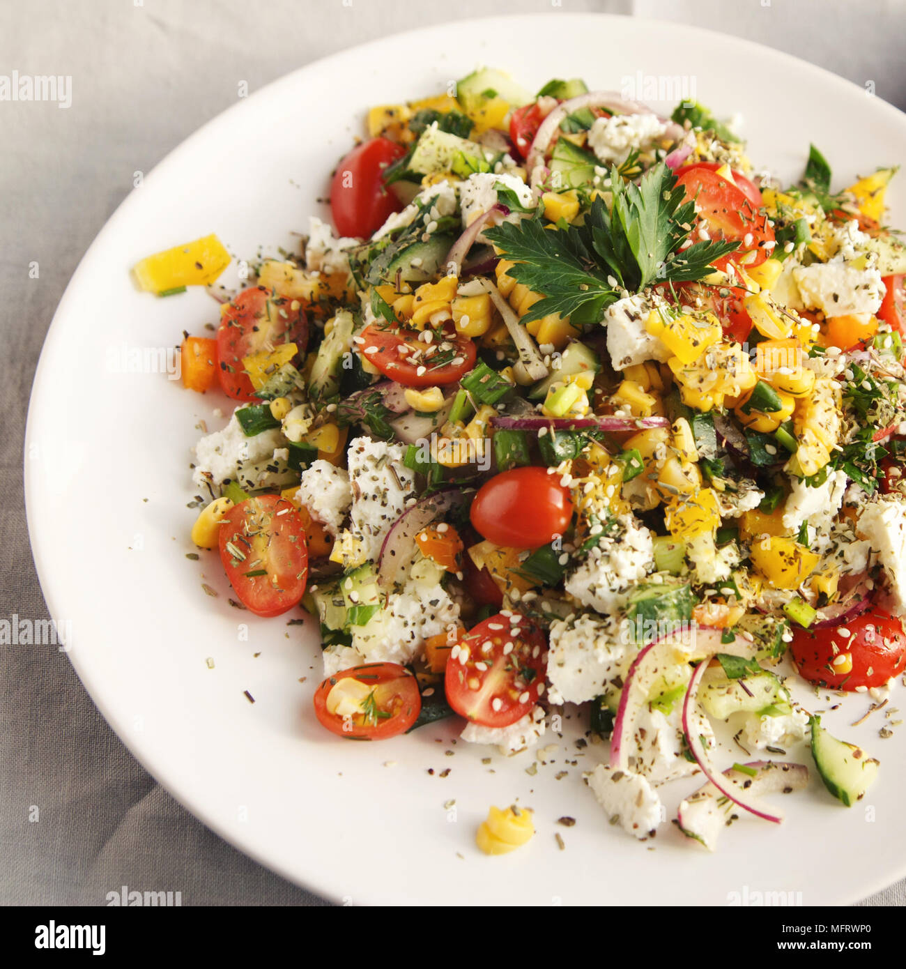 Fine Colorful Vegetable Mix Simple Low Calories Salad Cherry Home Interior And Landscaping Fragforummapetitesourisinfo